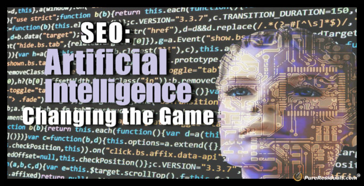 Artificial intelligence or AI is going to be a real game changer for SEO