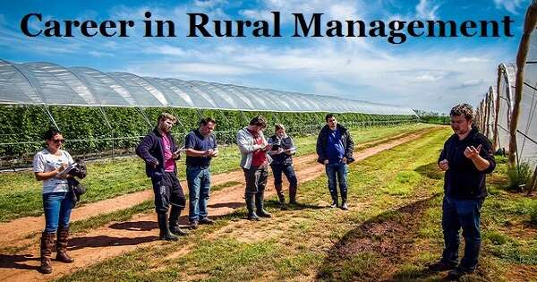 Career in Rural Management
