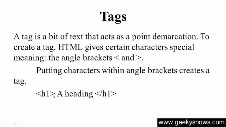 what is html tag