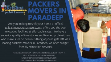 Professional Packers Movers in Paradeep