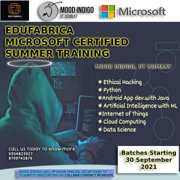 IIT Bombay Moodindogo Corporate Workshop Partner Edufabrica is presenting Technical Series