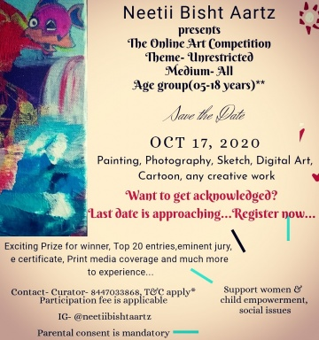 The Online Art Competition- Women & Child empowerment, Social issues