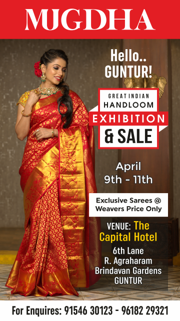 The Great Indian Handloom Exhibition & Sale From Mugdha is back at Guntur
